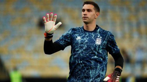 Dibu Martínez previo a la Final de la Copa América