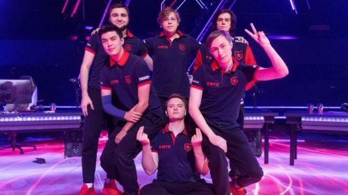 Jugadores de Gambit tras vencer a G2 Esports