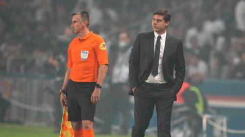 Mauricio Pochettino en un partido con el PSG