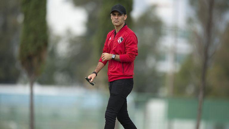 Rafael Márquez, en entrenamiento de la Sub 20 de Atlas
