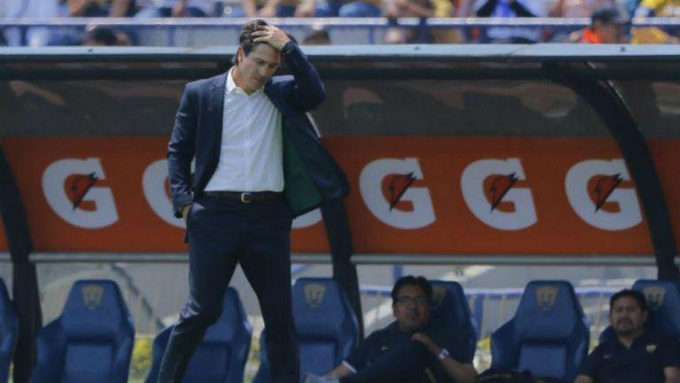 Marioni, en lamento durante partido de Pumas