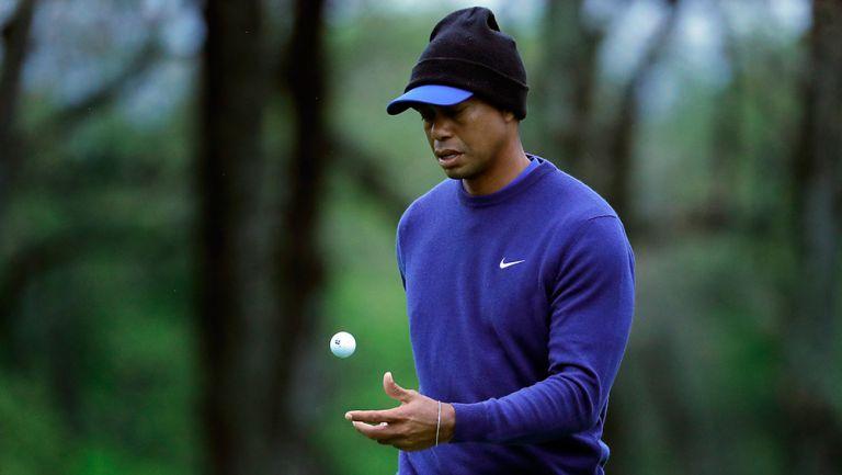 Tiger Woods, durante una de sus prácticas