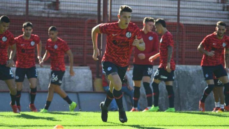 Jugadores de San Lorenzo en una práctica