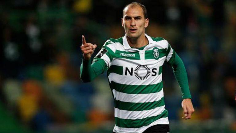 Bas Dost, durante un partido del Sporting de Lisboa