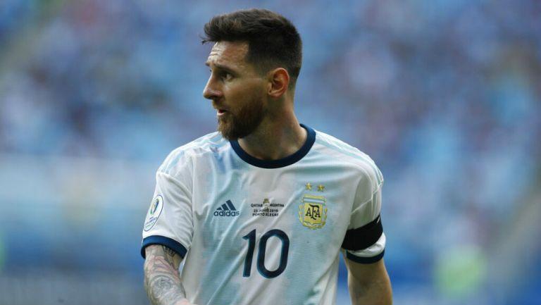 Messi durante un partido de la Copa América