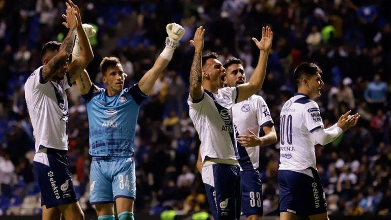 Puebla festeja gol contra Pumas en el Clausura 2019