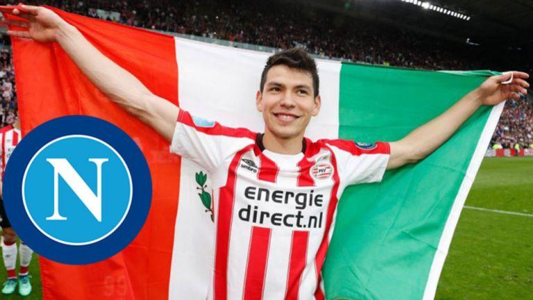 Hirving Lozano, posa con la bandera tricolor
