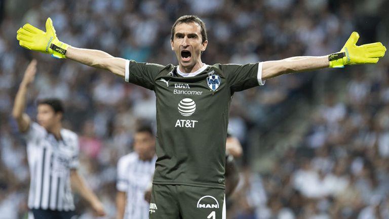 Marcelo Barovero, durante un juego de Monterrey
