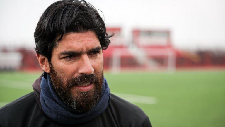 Sebastián Abreu previo a su primer entrenamiento con el Boston River