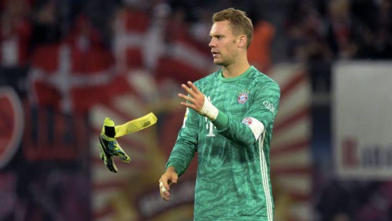 Manuel Neuer, en un juego con el Bayern