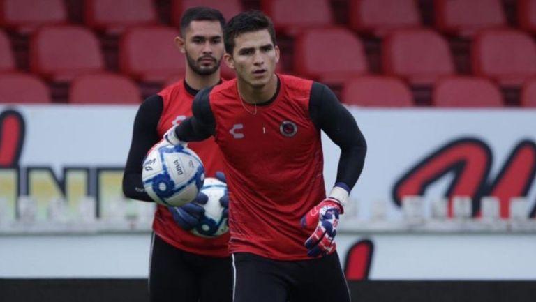 Sebastián Jurado en un entrenamiento con Veracruz