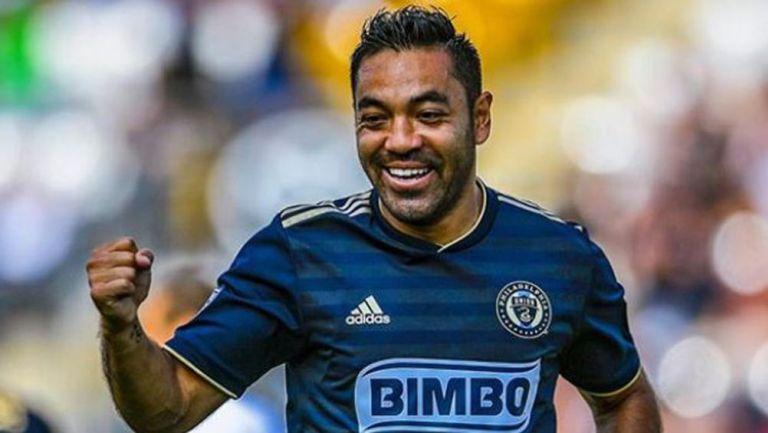 Marco Fabián festeja un gol con Philadelphia Union