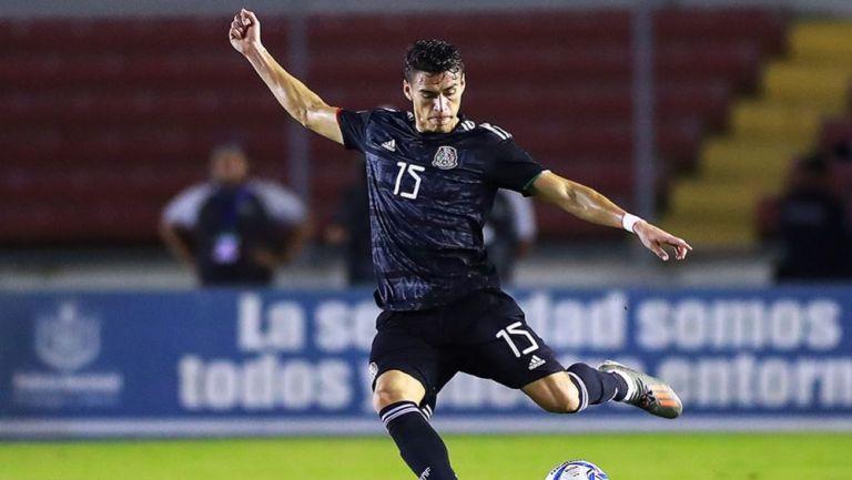 Héctor Moreno, en el juego ante Panamá