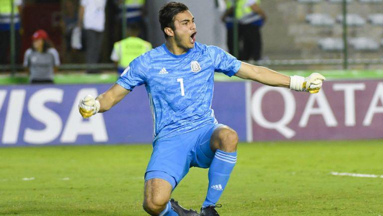 Eduardo García en partido con la Selección Mexicana