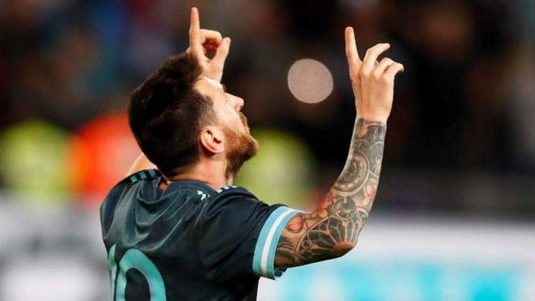 Messi, en un partido de Argentina