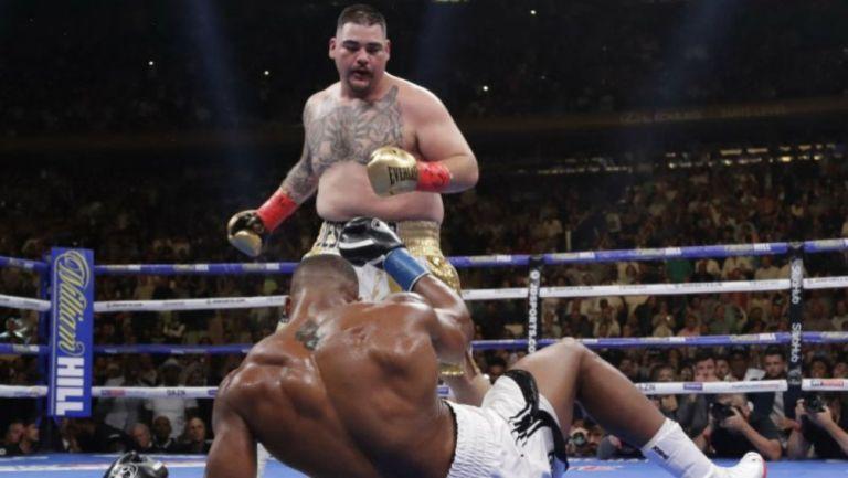Andy Ruiz, durante una pelea