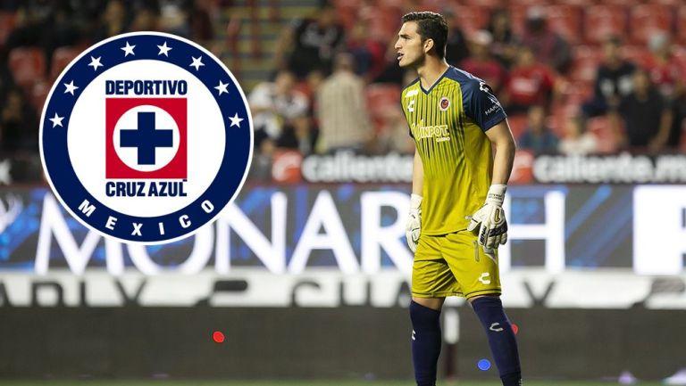 Sebastián Jurado en partido con Veracruz