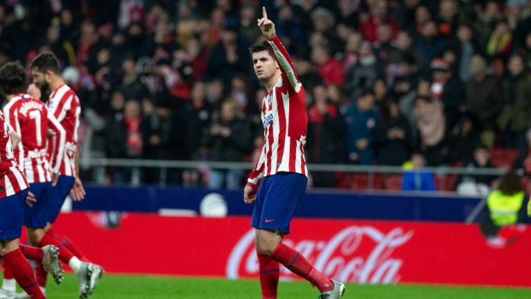 Álvaro Morata festeja su gol ante Osasuna