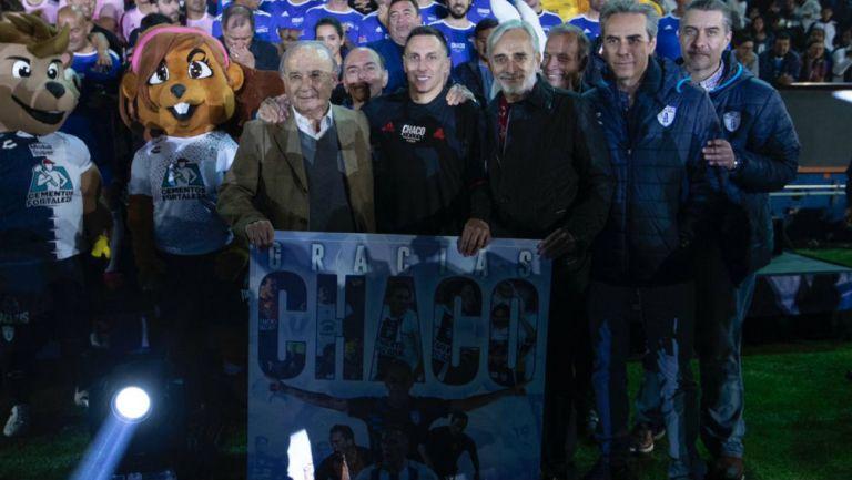 Christian Giménez fue reconocido por los presidentes de Pachuca y Cruz Azul