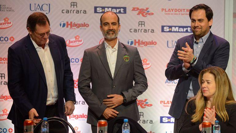 Guillermo Cantú en su presentación con Juárez