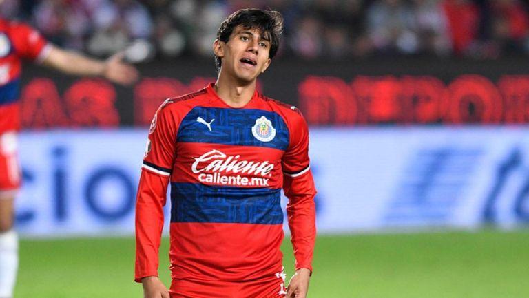 José Juan Macías, en un partido con Chivas