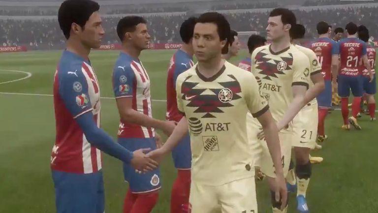 Saludo de jugadores de FIFA 20 en el Clásico Nacional