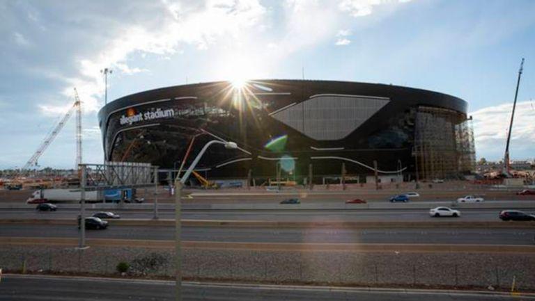 El Allegiant Stadium, a punto del fin de su construcción