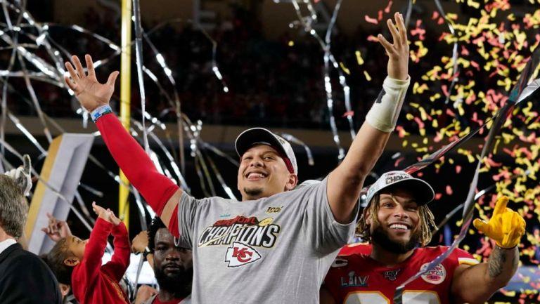 Patrick Mahomes tras ganar el último Super Bowl