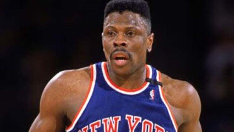 Patrick Ewing, durante un juego de los Knicks