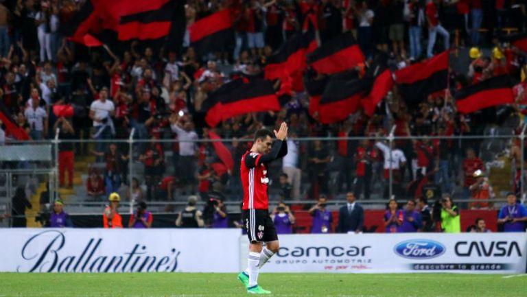 Rafael Márquez en su partido de despedida con Atlas