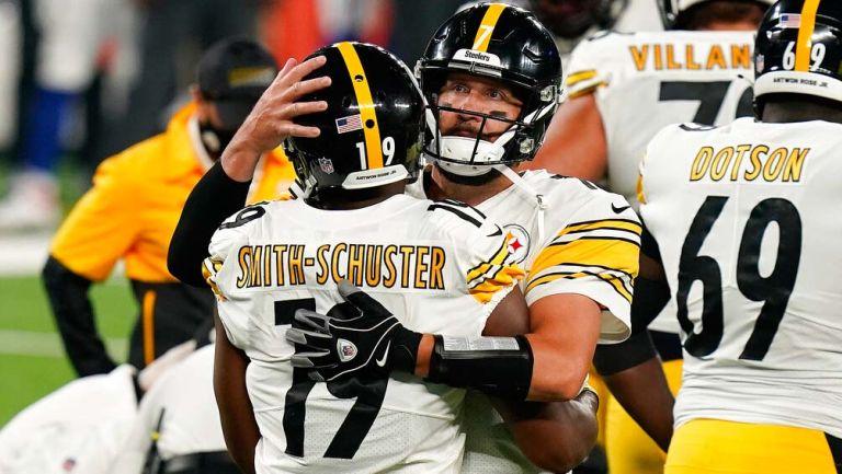 Los Steelers celebran una anotación sobre Giants