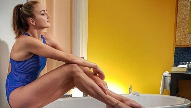 Elena Krawzow, nadadora paralímpica