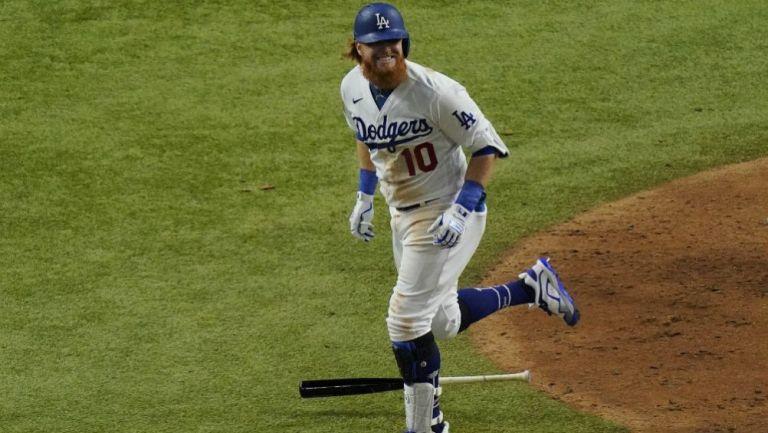 Justin Turner en acción con Dodgers