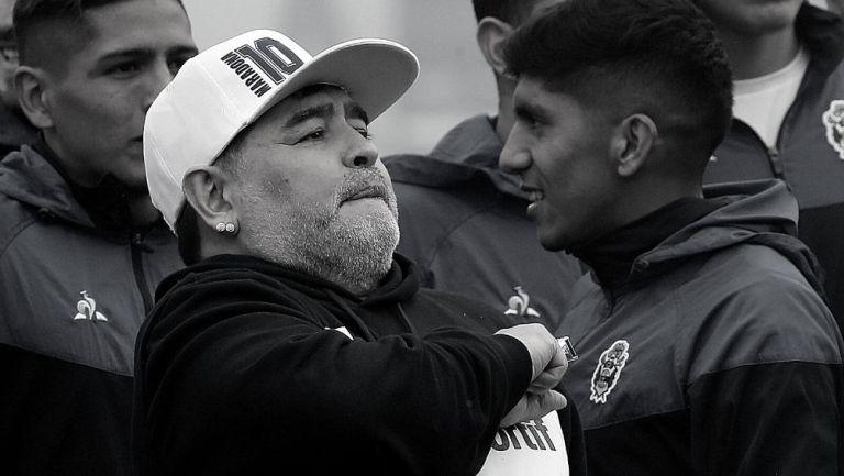 Maradona, técnico de Gimnasia La Plata