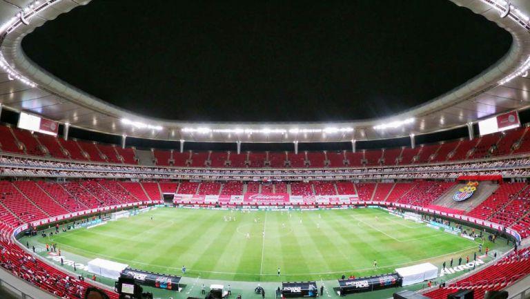 Toma panorámica del Estadio Akron en Liguilla