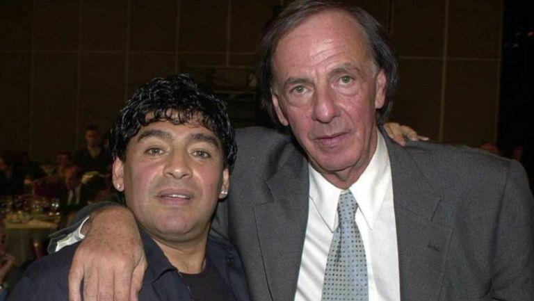 Maradona y César Luis Menotti