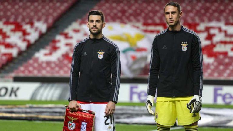 Portero de Benfica previo a un partido