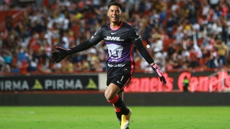 Talavera en un partido con los Pumas