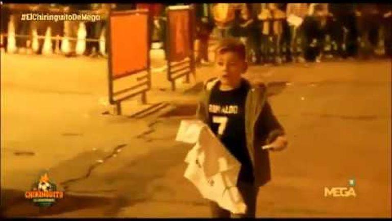 Embedded thumbnail for La conmovedora reacción de un niño al conseguir firma de Cristiano